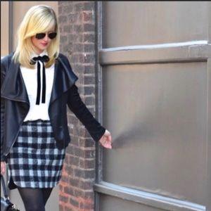 Madewell Buffalo Plaid Wool Skirt